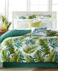 tropical comforter set queen pretentious design ideas bedding king tropical palm leaves set bed in a
