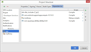 inside android studio gradle for android