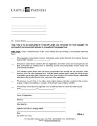 Fillable Online Volunteer Services Deferment Certification Letter