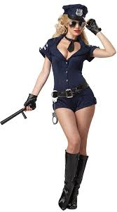 Sexy woman police officer