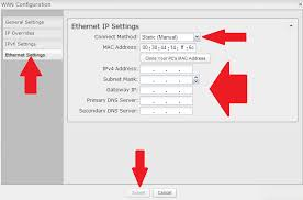 connecting a wired wan connection a static ip address user added image