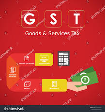Gst For Design Services Gst Good Services Tax Concept Gst Royalty Free Stock Image