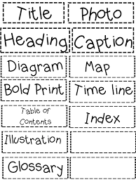 Text Features Anchor Chart Pdf Text Features Sort Pdf Nonfiction Text Features Text