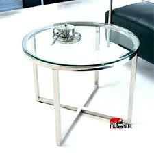 glass and chrome side table chrome accent table side table round glass chrome side table round