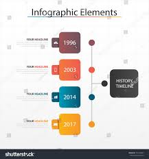 Star Options Chart 2017 Modern Business Timeline Process Chart Infographics Stock