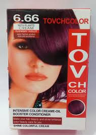 flowery violet hair colour