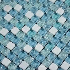 bathroom glass floor tiles mosaic