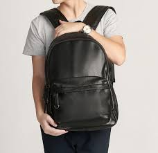 wholetide brand mens bags of urban leisure leather style contracted and men backpack student computer soft leather backpack bag fashion bags rucksack from