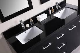 Square Sinks Bathroom Cosmo 60 Double Sink Vanity Set In Espresso Design Element