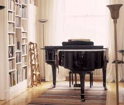 need lots of shelving next to piano in music room for piano and violin music arrange office piano room