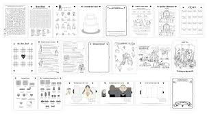 printable wedding activity book a5 children kids pdf custom colouring sheets