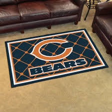 unlimited chicago bears rug 4 x 6