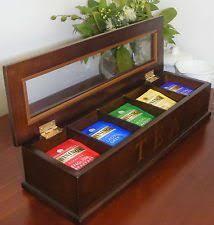 Tea Bag Display Stand LITTLE TEA BOXwooden Tea Box Door 100 Compartmentsfor Lovers Of 13