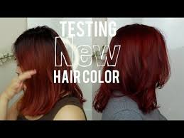 touching up red hair using ion