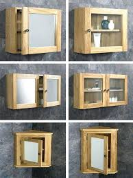 wall mounted glass cabinet solid oak wall mounted corner and square bathroom storage mirror glass cabinet