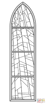 Small Picture Stained Glass Window from Anglican Church coloring page Free