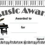 Piano Certificate Template Free Piano Recital Certificate Template Free Editable Music