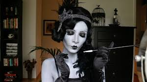 makeup tutorial 1920 s great gatsby greyscale brow blocking