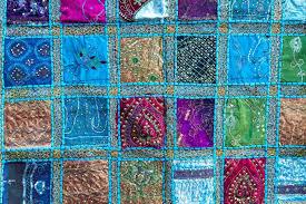 Handmade patchwork quilt from India — Stock Photo © haraldmuc ... & Handmade patchwork quilt from India — Stock Photo #12374622 Adamdwight.com