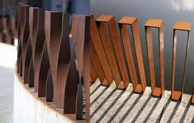 Cor ten steel Roofing Decorative Corten Steel Fence Eliassen 16 Corten Steel Landscaping Ideas For Garden Design Balcony Garden Web