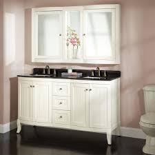White Bathroom Vanity Cabinet 60 Palmetto Creamy White Double Vanity Set Double Sink Vanities