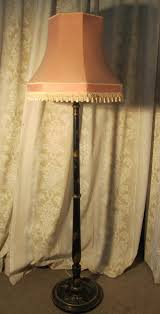 a black lacquer and gold floor standing lamp antique vintage standing lamp s12