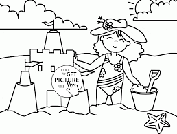 Small Picture Fun Summer Beach coloring page for kids seasons coloring pages