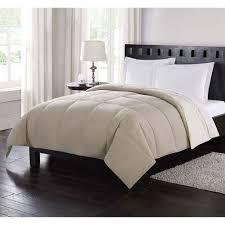 down reversible twin comforter in tan