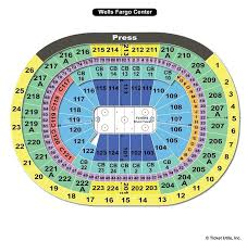 Wells Fargo Wwe Seating Chart Wells Fargo Center Seating Chart With Seat Numbers Wwe