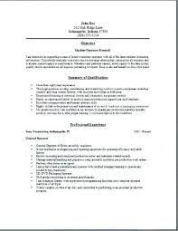 Machine Operator Resume Sample Best of Unforgettable Forklift Operator Resume Examples To Stand Out