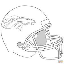 Nfl Coloring Pages Denver Broncos Helmet Page Adult