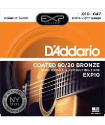 acoustic strings set exp coated 80 20 bronze extra light 10 47