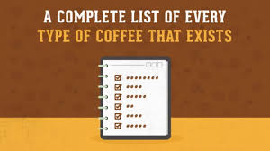 Coffee Beverage Chart A Complete List Of Every Type Of Coffee That Exists
