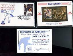 1995 SSCA St. Vincent And The Grenadines Gold Stamp Nolan Ryan Express & at  Amazon's Sports Collectibles Store
