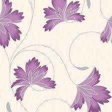Purple Wallpaper For Bedroom Buy Crown Flourish Wallpaper Plum Purple Cream Purple Wallpaper