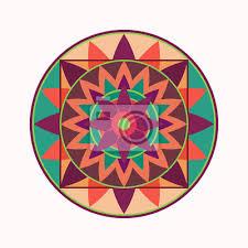 Fototapeta Mandala Symbol Tetování Geometrická Kolo Stylizovaný Ornament