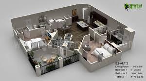 floor plan 3d. 3d-floor-plan-residential-classic Floor Plan 3d