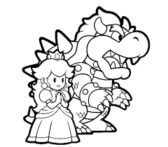 Small Picture Bowser And Princess Peach Mario Coloring Pages Bowser Coloring