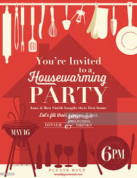 Housewarming Party Invitation Template : Vector Art