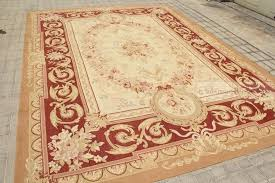 aubusson rugs for castle french area rug rust antique red pink wool carpet new square aubusson rugs