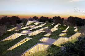 bjarke ingels big green roof school denmark image roof