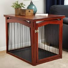 furniture pet crate. Merry Products 2-in-1 Configurable Pet Crate And Gate Furniture