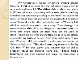 descriptive essay on my hometown my hometown this esssay describes the hometown of the writer