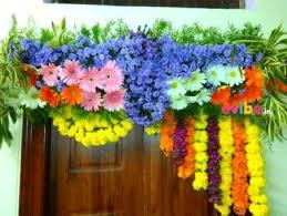 Flower Decoration Design Best Housewarming Gruhapravesam Flower Decorations In Bangalore 11