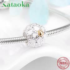 <b>Fashion 925 Sterling Silver</b> White Enamel Charms Heart plating ...