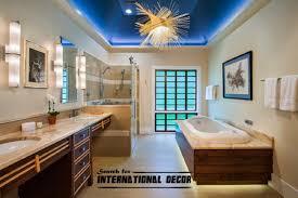 bathroom ceiling lighting ideas. False Ceiling Designs For Modern Bathroom Ideas In Blue Lighting T