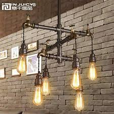 Antique industrial lighting fixtures Vintage Wall Light Injuicy Lighting Loft Vintage Industrial Wrought Iron E27 Edison Pendant Lights Lamps Fixtures Retro American Water Playableartdcco Injuicy Lighting Loft Vintage Industrial Wrought Iron E27 Edison