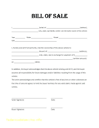 Automobile Bill Of Sale Form Online Bill Of Sale Template