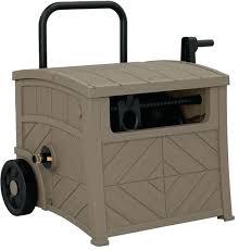 water hose box outdoor storage box portable garden hideaway water hose reel bin patio container for