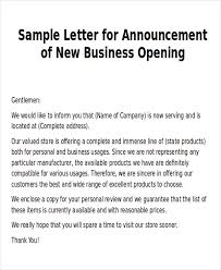 Sample New Business Letters 6 Examples In Word Pdf